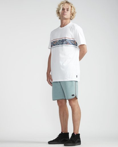 3 Team Stripes T-Shirt Blanco N1SS24BIP9 Billabong