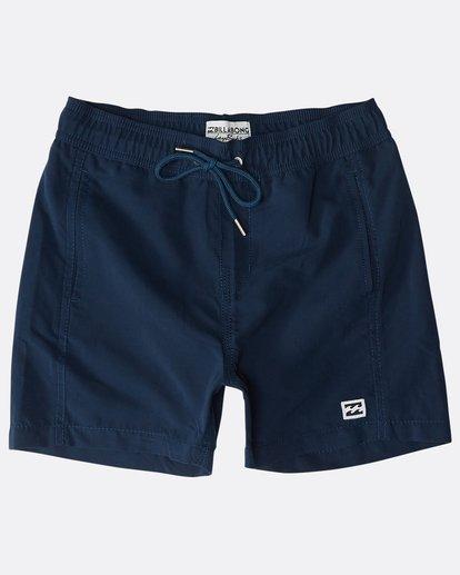 0 Boys' All Day Layback Boardshorts Bleu N2LB01BIP9 Billabong