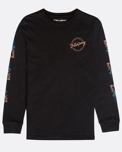 0 Boys' Eighty Six Long Sleeve T-Shirt Schwarz N2LS01BIP9 Billabong