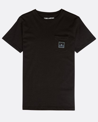 0 Boys' Stacked T-Shirt Negro N2SS02BIP9 Billabong