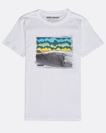 0 Boys' High Line T-Shirt Weiss N2SS06BIP9 Billabong