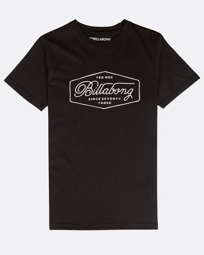 0 Boys' Trademark T-Shirt Negro N2SS09BIP9 Billabong