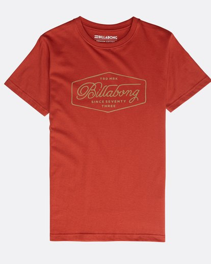 0 Boys' Trademark T-Shirt Rot N2SS09BIP9 Billabong