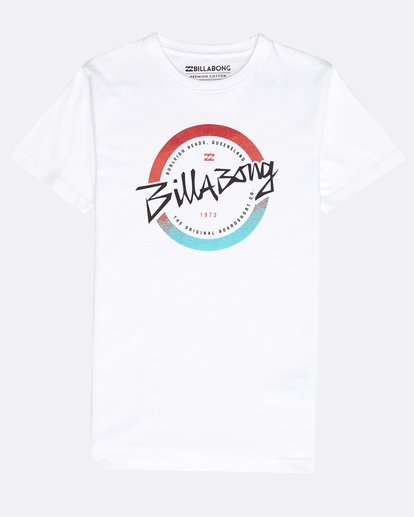 0 Boys' Eighty T-Shirt Weiss N2SS13BIP9 Billabong