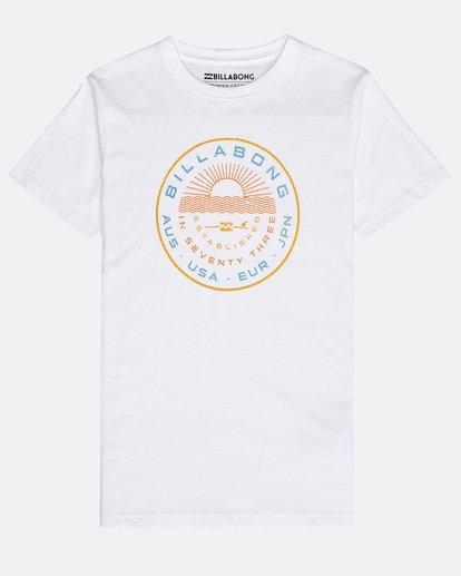 0 Boys' Rock Point T-Shirt Blanco N2SS14BIP9 Billabong