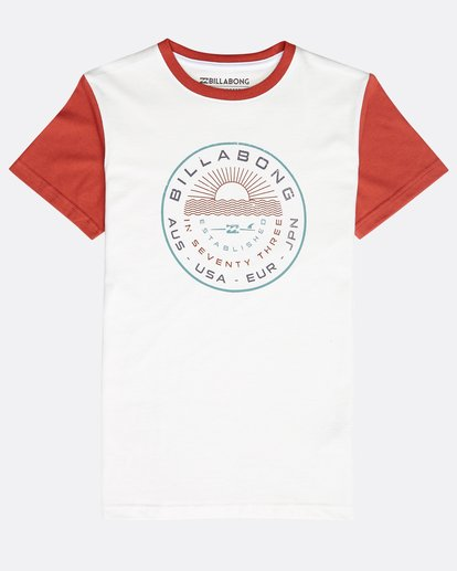 0 Boys' Rock Point T-Shirt Beige N2SS14BIP9 Billabong