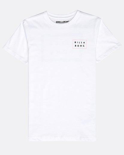 0 Boys' Die Cut Theme T-Shirt Blanco N2SS15BIP9 Billabong