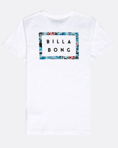 1 Boys' Die Cut Theme T-Shirt Blanco N2SS15BIP9 Billabong