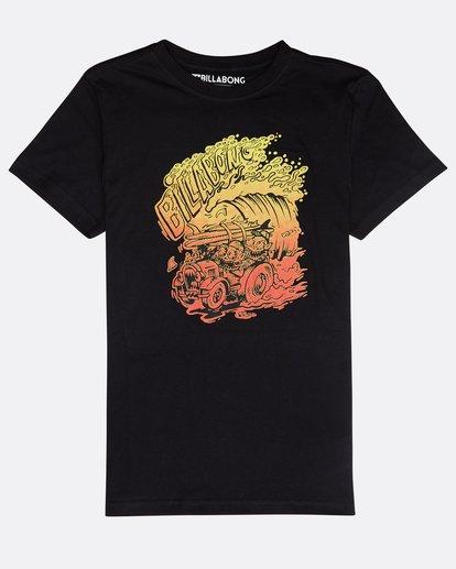 0 Boys' Surf Attack T-Shirt Schwarz N2SS18BIP9 Billabong