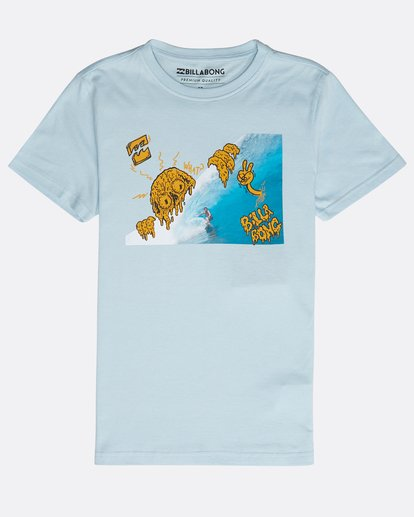 0 Boys' Melted Tube T-Shirt Blau N2SS19BIP9 Billabong