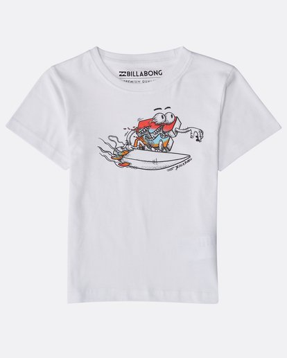 0 Boys' Kill Wave T-Shirt Blanco N2SS21BIP9 Billabong