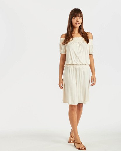 3 Coastal Kisses Dress Beige N3DR05BIP9 Billabong