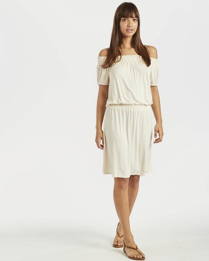 0 Coastal Kisses Dress Beige N3DR05BIP9 Billabong