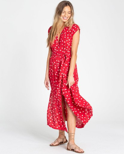 2 Little Flirt Dress Red N3DR06BIP9 Billabong