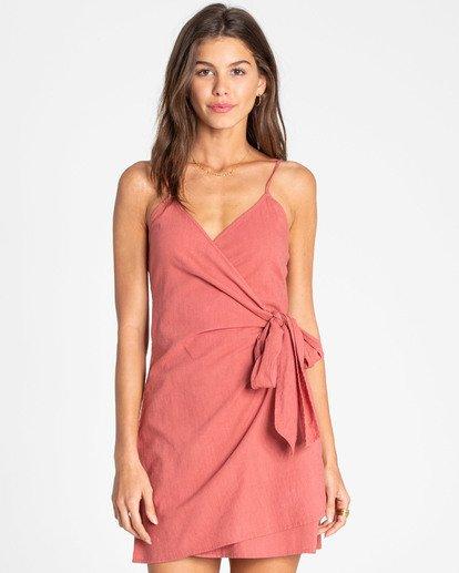 0 Island Wrap Dress Rot N3DR13BIP9 Billabong
