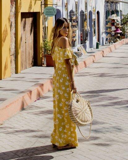 0 Shoulder Sway Dress Yellow N3DR22BIP9 Billabong
