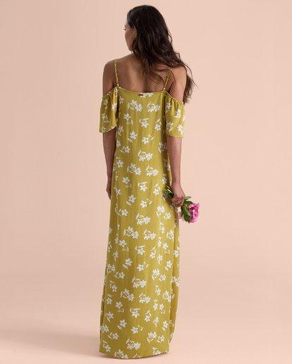 3 Shoulder Sway Dress Yellow N3DR22BIP9 Billabong