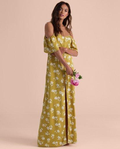1 Shoulder Sway Dress Yellow N3DR22BIP9 Billabong