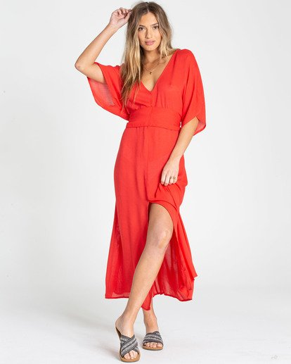 0 Forever Fine Dress Rojo N3DR50BIMU Billabong