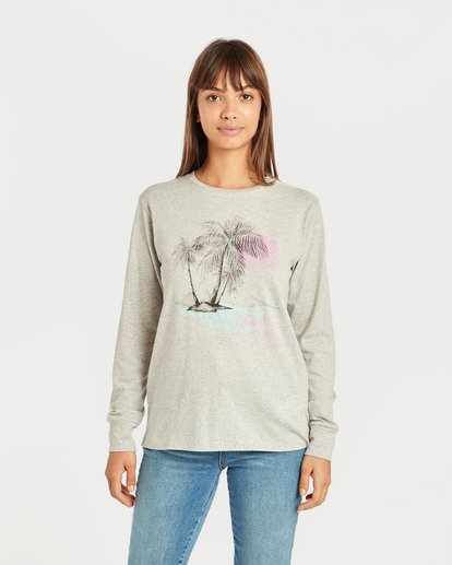 0 Shining Sun Long Sleeve T-Shirt Gris N3LS03BIP9 Billabong