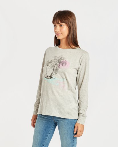 1 Shining Sun Long Sleeve T-Shirt Gris N3LS03BIP9 Billabong