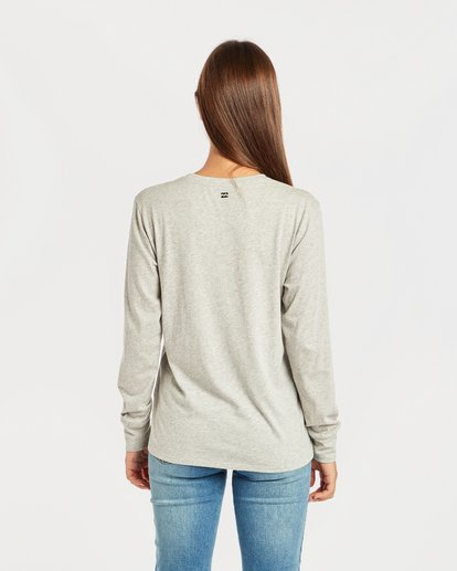 3 Shining Sun Long Sleeve T-Shirt Gris N3LS03BIP9 Billabong