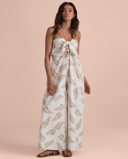 1 Twist Flirt Jumpsuit Beige N3PT13BIP9 Billabong