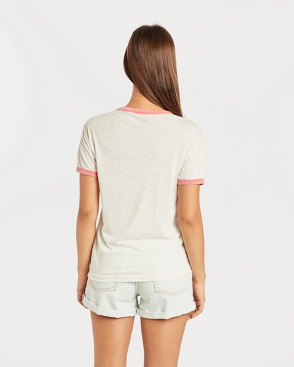 3 Ringer T-Shirt Beige N3SS11BIP9 Billabong