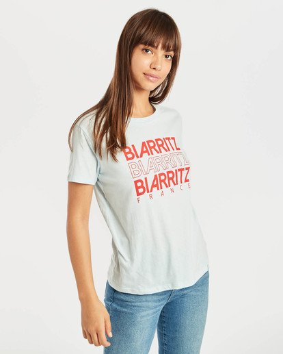 3 Destination T-Shirt Bleu N3SS17BIP9 Billabong