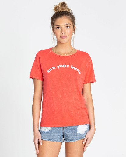 0 Sun Your Buns T-Shirts Rojo N3SS22BIP9 Billabong