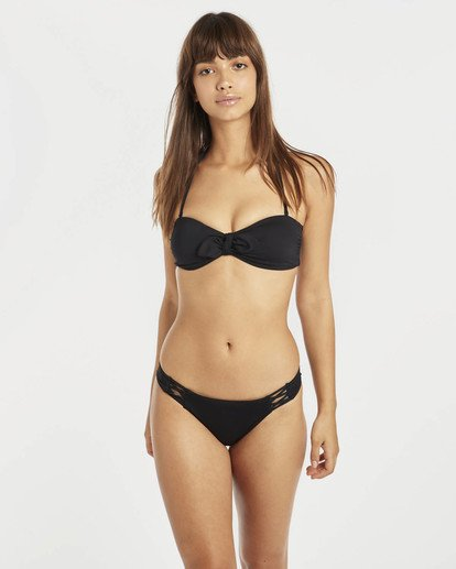 0 Sol Searcher Tied Bandeau Bikini Top Black N3ST01BIP9 Billabong