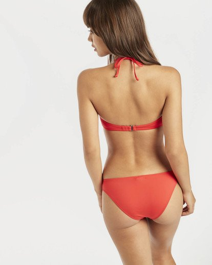 5 Sol Searcher Tied Bandeau Bikini Top Rojo N3ST01BIP9 Billabong