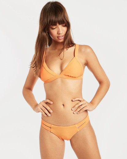 1 Tanlines Fixed Triangle Bikini Top Orange N3ST45BIP9 Billabong