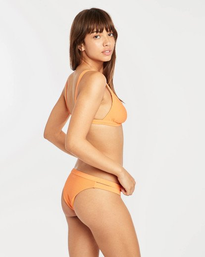 4 Tanlines Fixed Triangle Bikini Top Orange N3ST45BIP9 Billabong