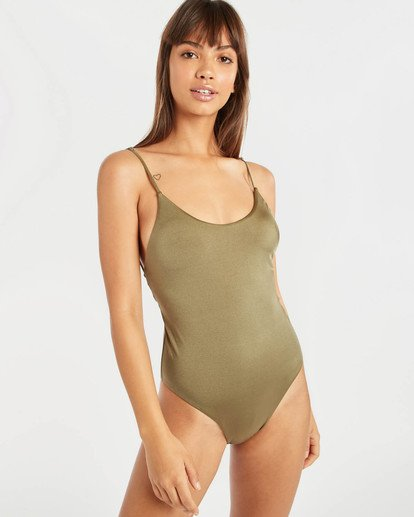 3 Sol Searcher Lace Up One Piece Swim Green N3SW02BIP9 Billabong