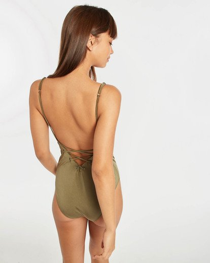 4 Sol Searcher Lace Up One Piece Swim Vert N3SW02BIP9 Billabong