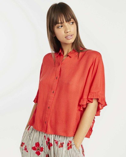 0 Find Me Blouse Top Rouge N3TP05BIP9 Billabong
