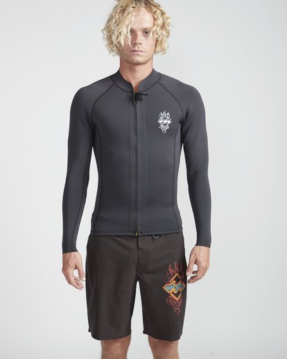 3 2/2 Revolution Front Zip Jacket Noir N42M14BIP9 Billabong