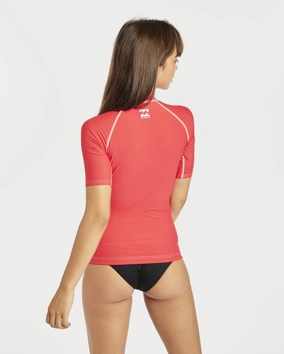 3 Logo In Rashguard Rouge N4GY01BIP9 Billabong