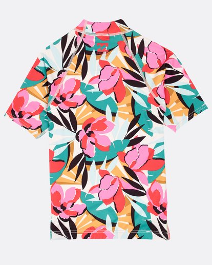 1 Girls' Flower Rashguard  N4KY03BIP9 Billabong