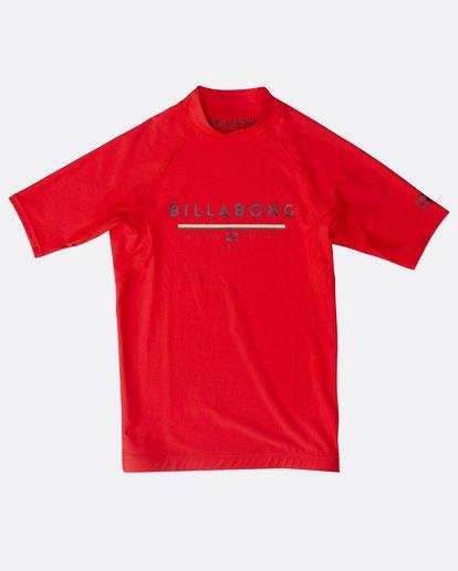 0 Unity - Kurzärmeliges Lycra für Jungen Rot N4KY07BIP9 Billabong