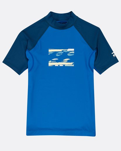 0 Boys' Team Wave Rashguard Blau N4KY08BIP9 Billabong