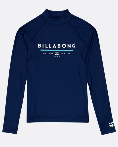 0 Boys' Unity Long Sleeve Rashguard Azul N4KY10BIP9 Billabong