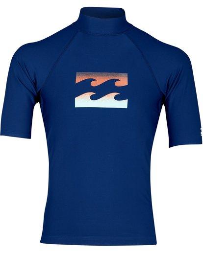 0 Team Wave Rashguard Blau N4MY02BIP9 Billabong