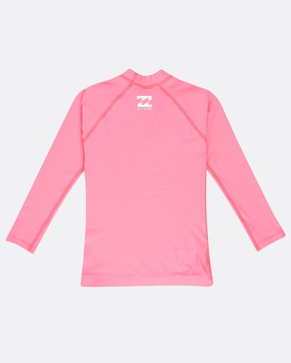 1 Logo Long Sleeve Rashguard Pink N4TY03BIP9 Billabong