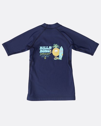 1 Boys Short Sleeve Rashguard Blau N4TY05BIP9 Billabong