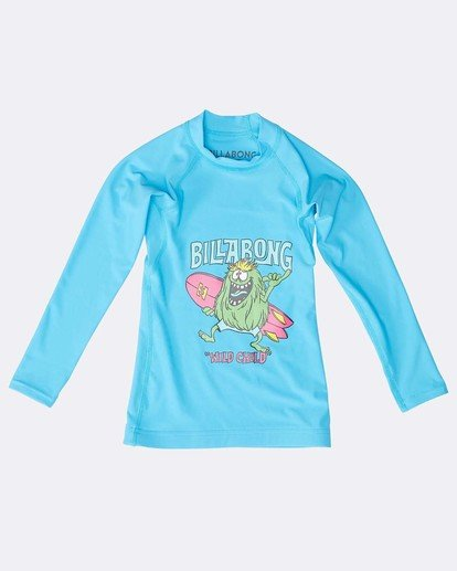 0 Boys Long Sleeve Rashguard Blau N4TY06BIP9 Billabong