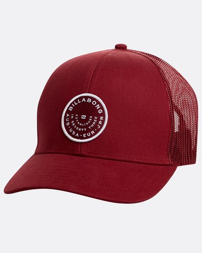0 Walled Trucker Hat Rot N5CT03BIP9 Billabong