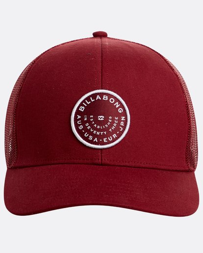 1 Walled Trucker Hat Rot N5CT03BIP9 Billabong