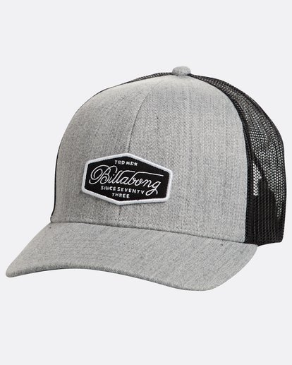 0 Walled Trucker Hat Grey N5CT03BIP9 Billabong